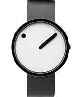 43379  40mm Black Design Watch with White Dial