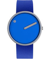 43380  40mm Blue Design Watch with White Dial