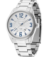 PL13893JS-04MA Memphis 44mm Steel Gents Watch with Date