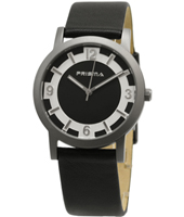 P.2263 Mr. Feelin' Good 38mm Black titanium watch with leather strap