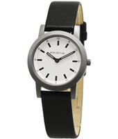 P.2266 Mrs. Feelin' Good 32mm Titanium & white ladies watch with leather strap