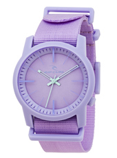 A2611G-108 Cambridge  40mm Lavender Plastic 10 ATM Watch with Nylon Strap