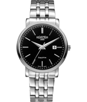 709856-41-55-70 Classic Line 40mm Steel Swiss Gent Quartz Watch