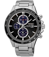 SSC435P1  42.80mm Solar Chronograph with Date and Alarm