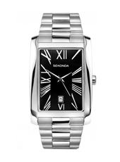 3634  30mm Square Gents Watch with Date