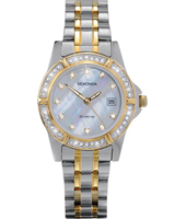 4174  28.40mm Bicolor ladies watch with Crystals