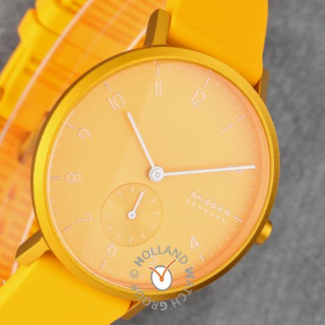 Yellow watch with small second dial Collection Automne-Hiver Skagen
