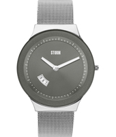 47075-GY Sotec  41.50mm Grey & steel design watch with date