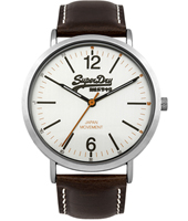 SYG194TS Oxford 38.50mm Quartz Watch with Leather Strap
