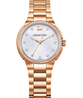 5221176 City Mini 31mm Rose gold watch with crystals