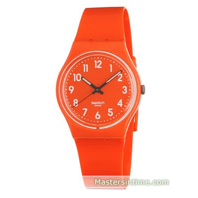 Swatch • Les Flaky Ean7610522631762 Montre Go109 Originales Orange w80PnOk