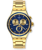 YVG402G Power Shot 43mm Gold Steel New Irony Chronograph