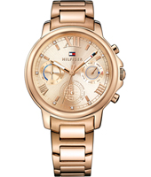 1781743 Claudia 39mm Rose gold ladies watch with day-date