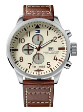 TH1790684 Jackson  46mm Steel & Brown Month/Day/Date Gents Watch