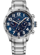 th1791053 Trent  46mm Steel & Blue Multifunction Gents Watch