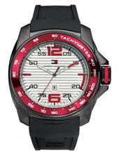 TH1790854 Windsurf  46mm Large black & red watch with date