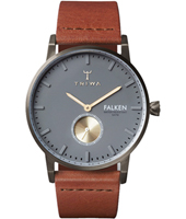 FAST102CL010213 Falken 38mm Grey minimalist watch with small second