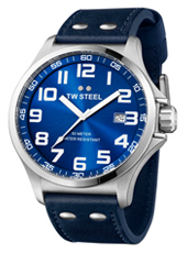 TW401 Pilot  48mm Steel & Blue Watch with Date
