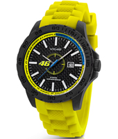 VR1  40mm Carbon watch with yellow rubber strap