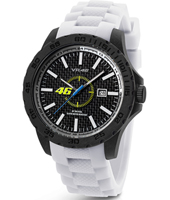 VR3  40mm Carbon watch with white rubber strap