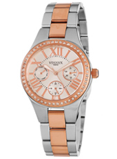 MR41190-02 Metz  Bicolor Rose Ladies Watch with Crystals and Day/Date
